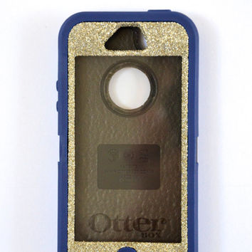 Otterbox Case iPhone 5 Glitter Cute Sparkly Bling Defender Series Custom Case Silver/Blue