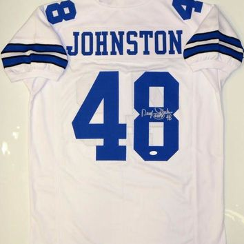 ESBONY Daryl Johnston Signed Autographed Dallas Cowboys Football Jersey (JSA COA)