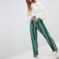 New Look Stripe Wide Leg Trouser at asos.com
