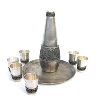 Antique melchior melhior shot glass dram set beaker gift for him unisex vintage
