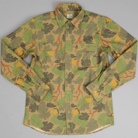 js homestead - the hill side cpo shirt leaf camouflage