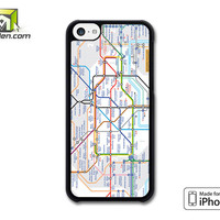 london tube map iPhone 5c case by Avallen