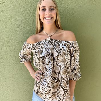 Look This Way Top- Taupe