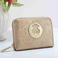 TOUS Women Fashion Leather Purse Wallet
