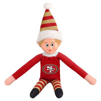 San Francisco 49ers SF Holiday Christmas Team Elf with Santa Hat n Shirt NFL