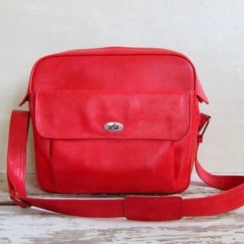 20% OFF SALE Vintage tote red Vintage Samsonite Silhouette carry on luggage bag