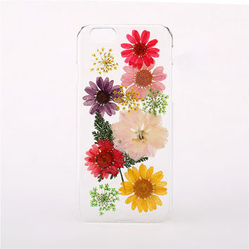 Pressed Flower iPhone Case Clear iPhone 6 Case iPhone 5s Case iPhone 5c Case Floral iPhone 5 Case iPhone 4 Case Samsung Case Phone Case B111