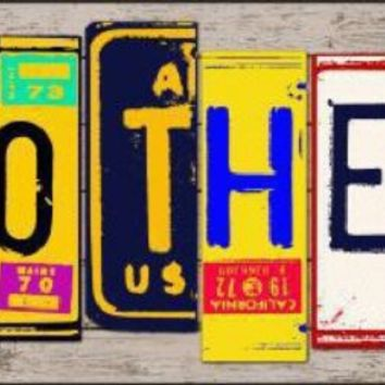 Mother License Plate Art Tag Sign
