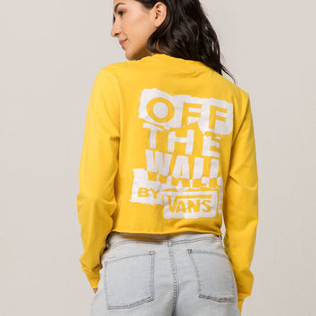 VANS Ripped OTW Womens Crop Tee