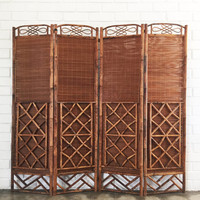 Vintage Wicker Screen - Rattan Room Divider
