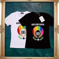 charmvip - Balenciaga Womens Embroidered Cotton T-shirt