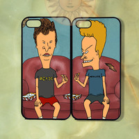 Beavis and Butthead Couple Case UP-iPhone 5, iphone 4s, iphone 4 case, ipod 5, Samsung GS3-Silicone Rubber or Hard Plastic Case, Phone cover