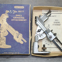 Vintage Craftsman Drill Grinding Attachment No. 6677 in Box with Instruction Sheet