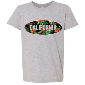 California Tropical Flowers Logo Asst Colors Youth T-Shirt/tee