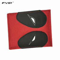 FVIP Hot Sell PU and PVC Purse American Marvel Comic Deadpool Wallet for Young Men and Women Dollar Price