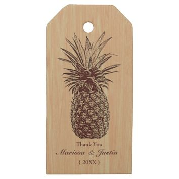 Pineapple Wooden Custom Wooden Gift Tags