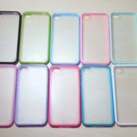 For Apple iPhone 4 / 4s Silicone Bumper & Frosted Hard Plastic Case