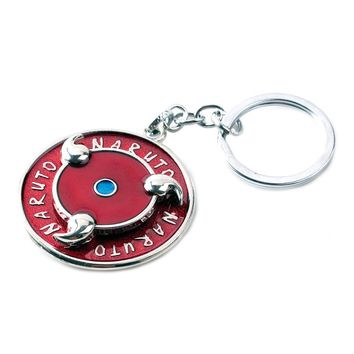 Naruto Sasauke ninja  Sharingan Rotatable Round Design keychain Fashion keyring Key Chains Holder Llaveros Chaveiro Men Women Souvenir Gifts AT_81_8