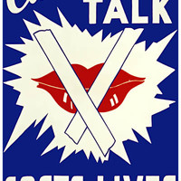 Careless Talk Costs Lives Propaganda Poster 11x17