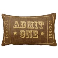 Whimsical Circus Theatre Ticket Admit One Pillows