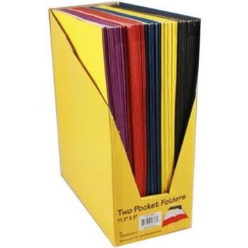"*Two Pocket File Folders - 9"" X 11.5"" 5 Pack"