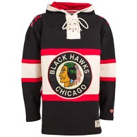Chicago Blackhawks Vintage Heavyweight Jersey Lacer Hoodie
