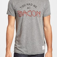 Men's Retro Brand 'You Had Me at Bacon' Slim Fit Graphic T-Shirt