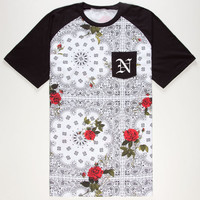 Neff Snoop Dogg Floral Mens Pocket Tee White  In Sizes