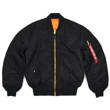 SOOP SOOP - Alpha Industries MA-1 Flight Jacket, Black