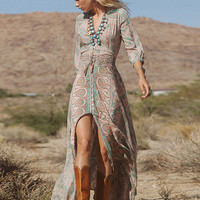 High splits BOHO Maxi Dress