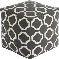 0-013710>Geometric Pouf Gray