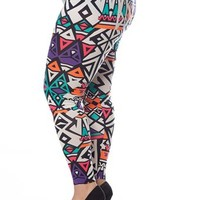Colored Aztec Print Leggings - Multi from Casual & Day at Lucky 21 Lucky 21