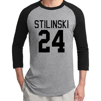 VONE059 hot sale Teen Wolf Stilinski 24 three quarter sleeve men t shirt 2017 new summer 100% cotton raglan tee casual slim fit S-2XL