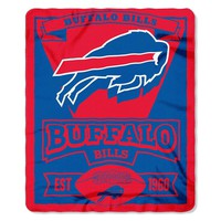 Buffalo Bills NFL Light Weight Fleece Blanket (Marque Series) (50inx60in)