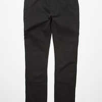 Kr3w Mens Slim Chino Pants Black Denim  In Sizes