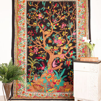 Tree of Life Beach Tapestry