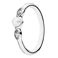 Authentic Pandora Jewelry - Petite Luminous Leaves Ring