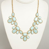 Gem Class Light Blue Statement Necklace