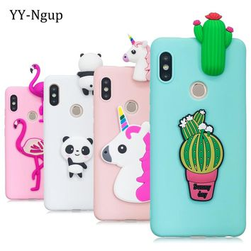 Xiaomi Redmi Note 5 Pro Case Cover 3D Toy Panda Cactus Silicone Phone Case on for Funda Xiaomi Redmi Note 5 5a Prime Xiomi Case