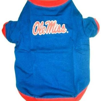 CREYHJ2 Mississippi Ole Miss Pet Shirt SM