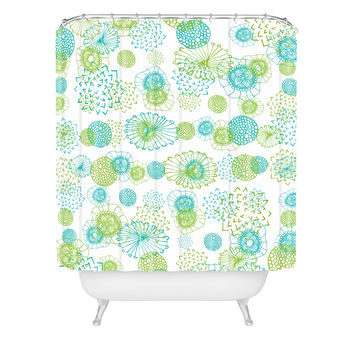 Monika Strigel Winter In My Garden Shower Curtain