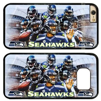Seattle Seahawks Football Team PC+TPU Edge Cell Phone Case Cover Fits For iphone 5 5s 6 6s 6 plus 7 8 plus X T0247