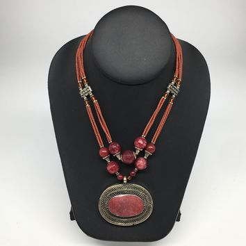 Turkmen Necklace Afghan Antique Tribal Fashion Multi Strand Beaded Necklace S141