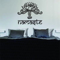 Namaste Lotus Flower Version 1 Design Sports Decal Sticker Wall Vinyl Decor Art OM