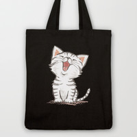 American Shorthair cat Tote Bag by Toru Sanogawa