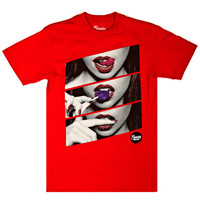 Popular Demand Candy Lips Tee - Red