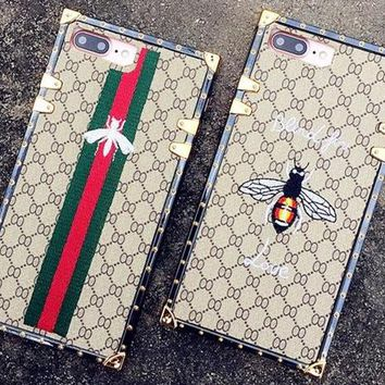 Gucci Fashion Personality Bee iPhone Phone Cover Case For iphone 6 6s 6plus 6s-plus 7 7plus 8 8plus