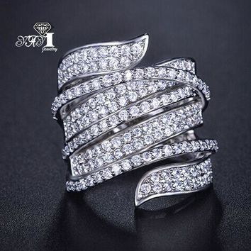 YaYI Jewelry Fashion  Princess Cut 5.8  CT White Zircon Silver Color Engagement Rings wedding Heart Flower Rings Party Rings