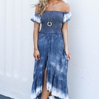 Going My Way Tie-Dye Hi Low Dress