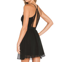 BCBGeneration Woven Cocktail Dress in Black